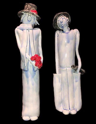 César et Rosalie - Céramique - Amoureux - Naïfs