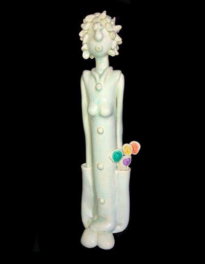 Gisèle - Personnage - Céramique - Naïve - Craquelé
