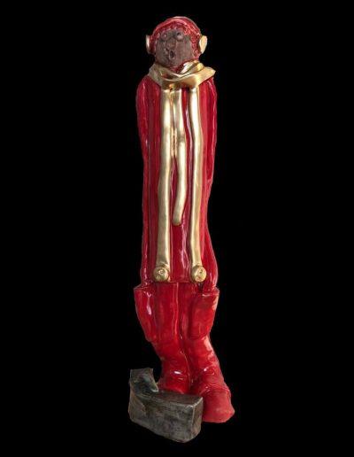 Léon - Céramique - Personnage - Rouge