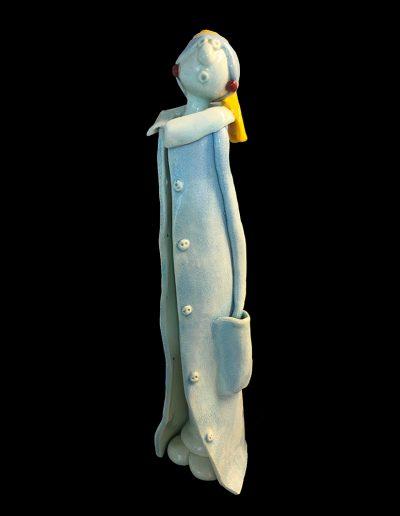 jeune fille à la perle - sculpture - céramique