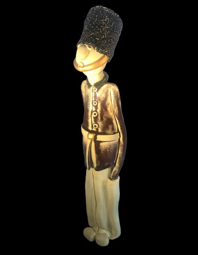 Sculpture - céramiques - Bobby - garde nationale - anglais - welsh guards - rouge