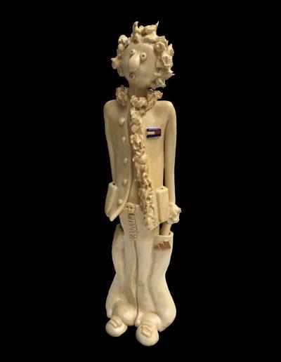 Sculpture - céramique - personnage naïf - émail - adidas - tommy hilfinger