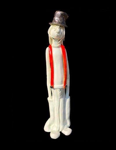 Sculpture - céramique - naïf - couleurs - haut de forme