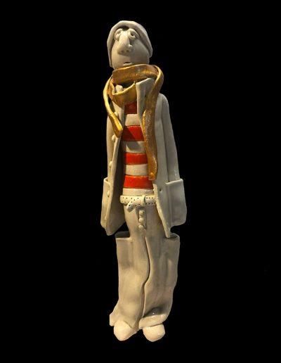 Sculpture - céramique - personnage - naïf - émail - couleurs